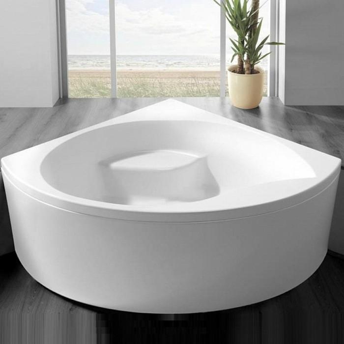 eckwanne weiß elegant graues badezimmer