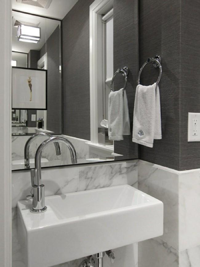 ein riesengroßes Badezimmerspiegel - tolle Idee