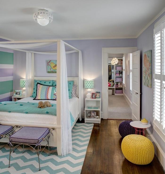 farbgestaltung kinderzimmer elegantes design mädchenzimmer zig zag muster
