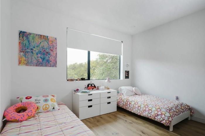 farbgestaltung kinderzimmer helles gemütliches design holzboden