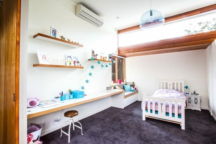 farbgestaltung kinderzimmer mädchenzimmer einrichten ideen hlle wände dunkler boden