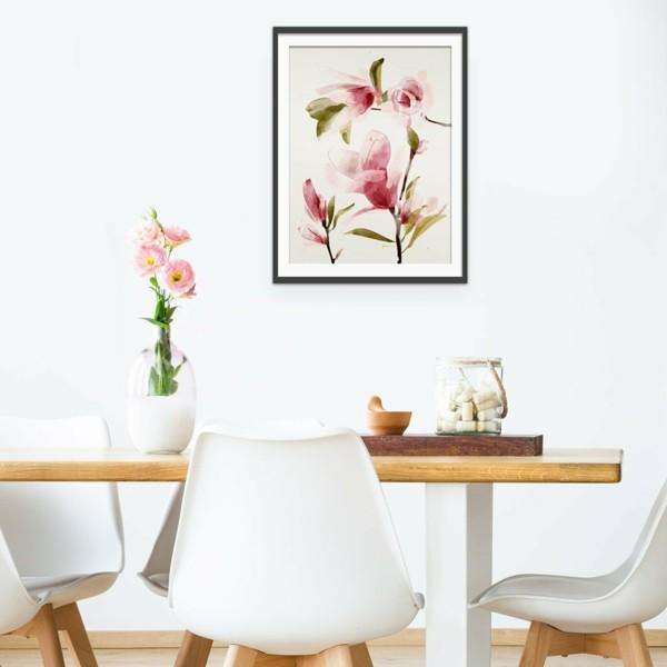 frühlingsblumen deko blumren arrangieren esszimmertisch dekorieren