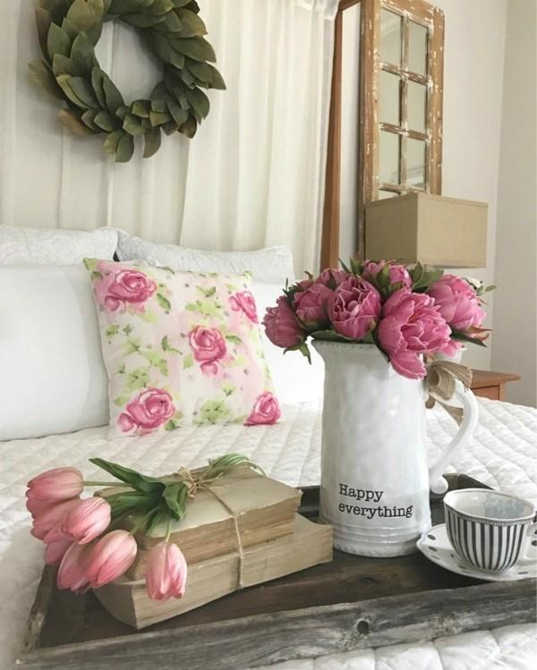 frühlingsblumen deko dekoideen wohnzimmer frische farben