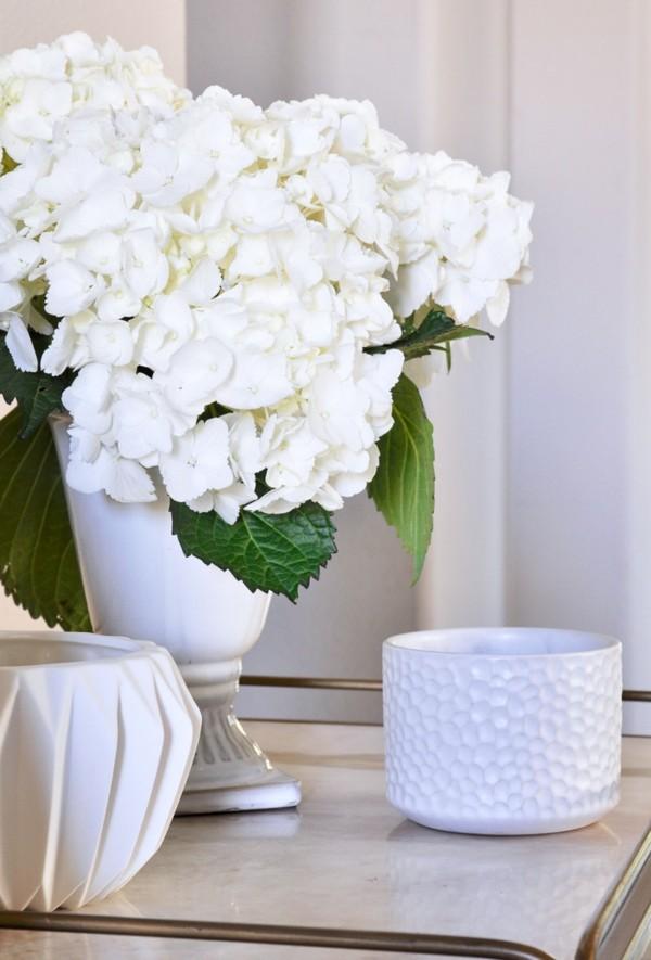 frühlingsblumen deko frische dekoideen in weiß