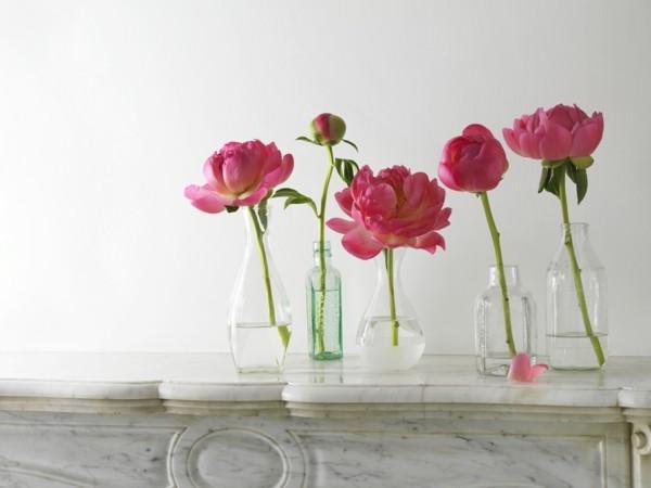frühlingsblumen deko pfingstrosen kreative deko selber machen