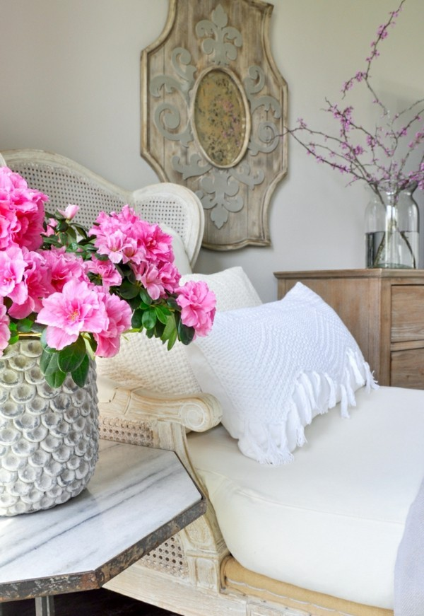 frühlingsblumen deko schlafzimmer dekorieren