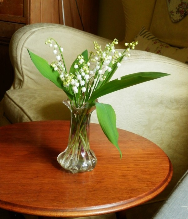frühlingsblumen deko wohnzimmer erfrischen maiglöckchen