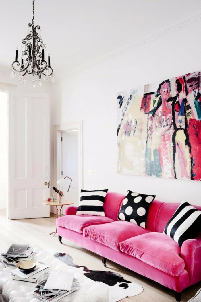 frühlingsfarben frische farben wohnzimmersofa elegante dekokissen