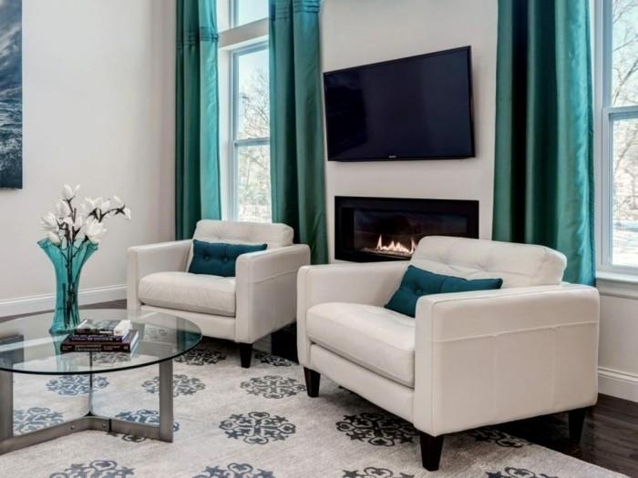 frühlingsfarben grüne akzente wohnzimmer gestalten