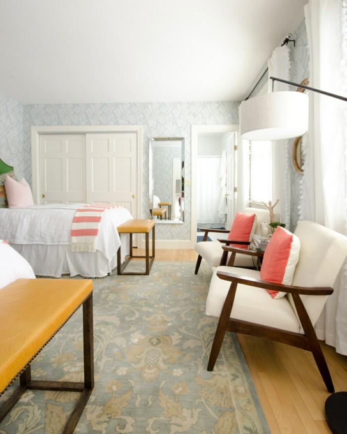 frühlingsfarben schlafzimmer gästezimmer dekokissen