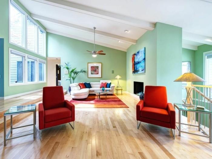 frühlingsfarben wohnbereich warme farben kombinieren
