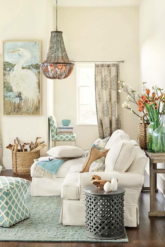 frühlingsfarben wohnzimmer einrichten grünnuancen weiße möbel
