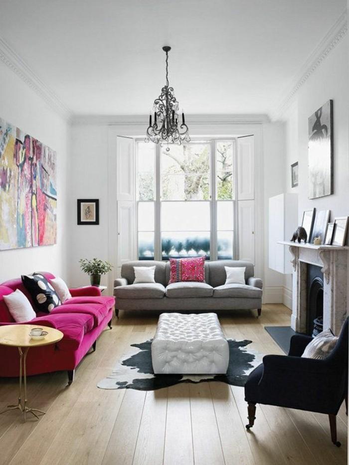 frühlingsfarben wohnzimmer farbig gestalten holzboden