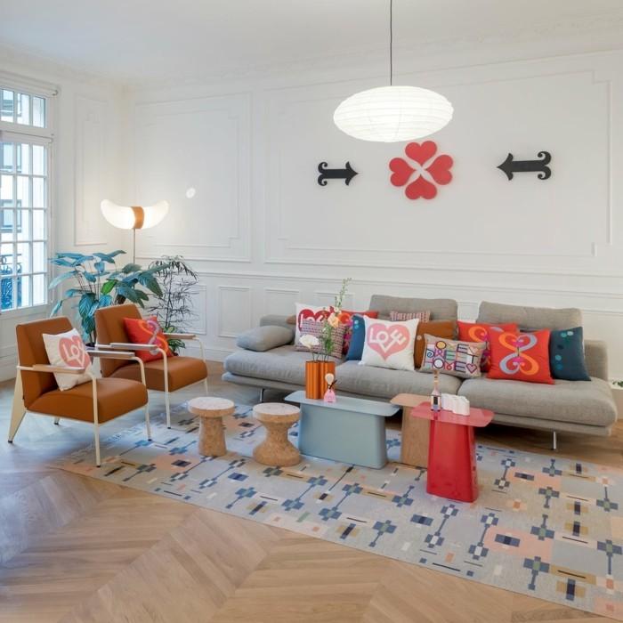 frühlingsfarben wohnzimmer gestalten ideen frische farben kombinieren