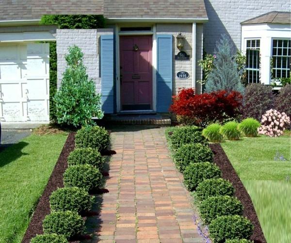 gartenweg ideen grüne pflanzen deko gartenideen