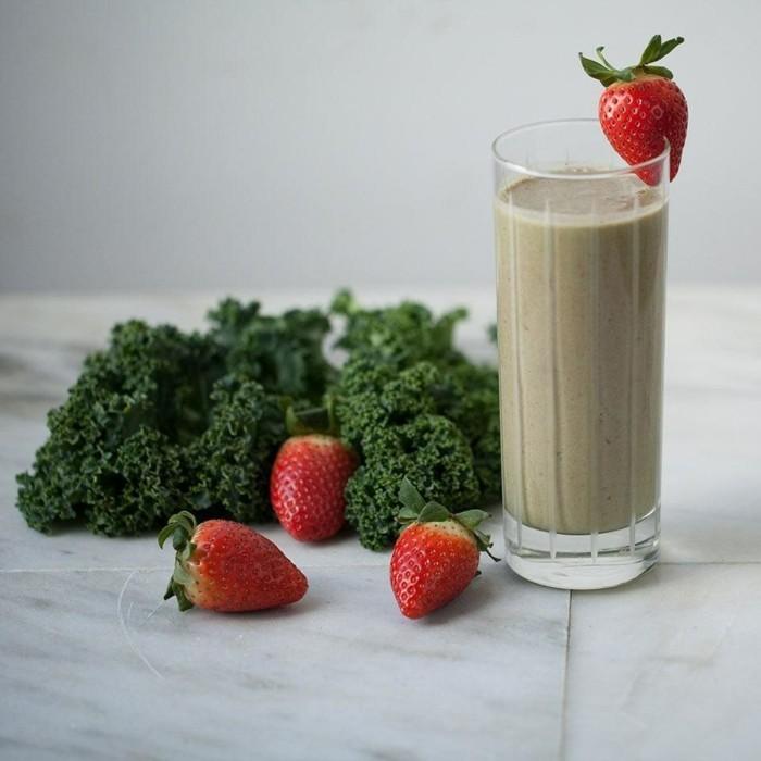 grünkohl erdbeeren smoothie rezepte zum abnehmen