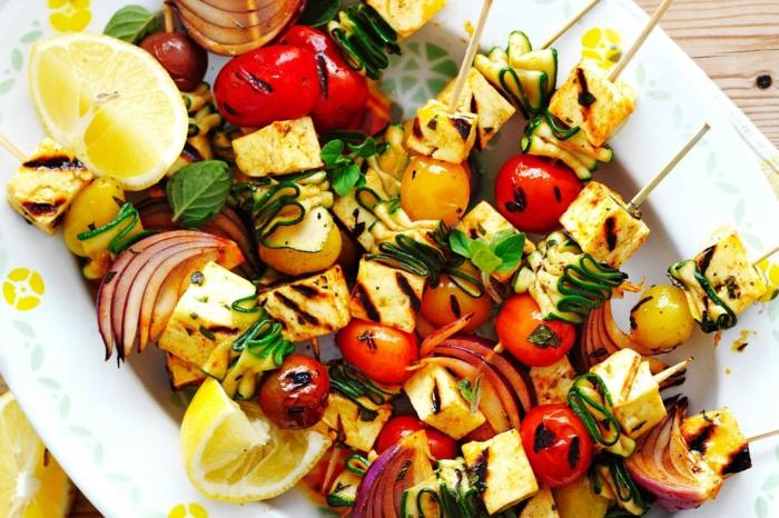 grillen vegetarisch gute einfache rezepte spargel halumi