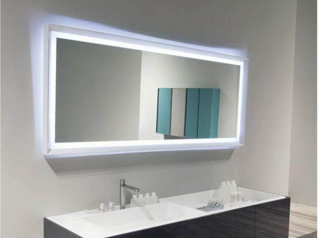 interessante spiegeleffekte Badezimmerspiegel