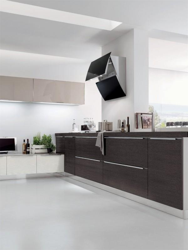 küchen inspiration helle wände weißer boden farbkontraste