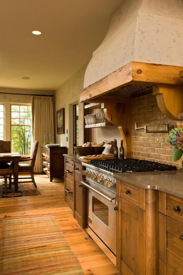 küchen inspiration landhausstil italienisches design teppichläufer