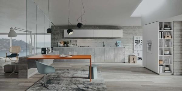 küchen inspiration moderner stil helle farben
