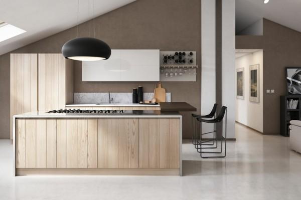 küchen inspiration modernes design helle kücheninsel dunkle oberfläche