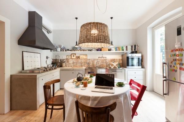 küchen inspiration schöne esstischlampe frische küchenrückwand