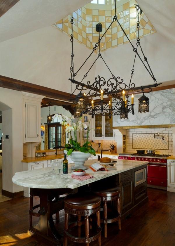 küchen inspiration schöne zimmerdecke dunkle küchenmöbel