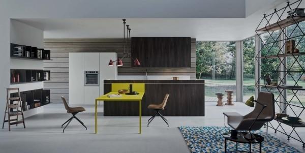küchen inspiration stilvolle einrichtung gelber esstisch