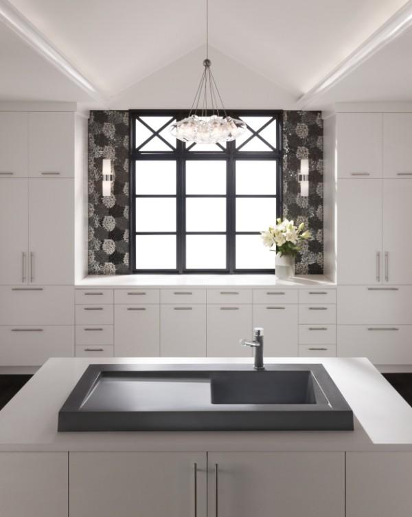 küchenspüle granit freistehende kücheninsel