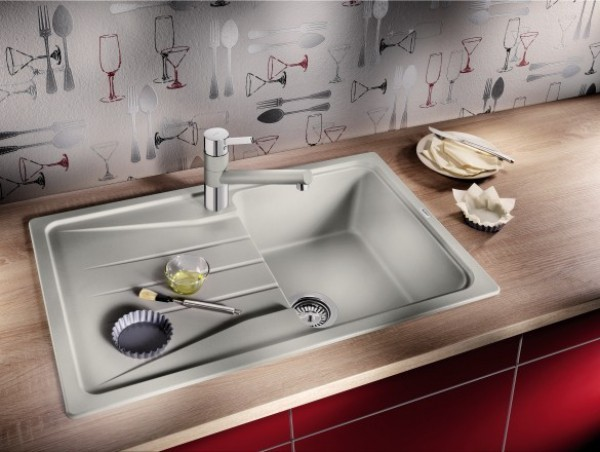 küchenspüle granit funktionales design helle farbe
