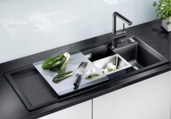 küchenspüle granit kochen erleichtern moderne küche
