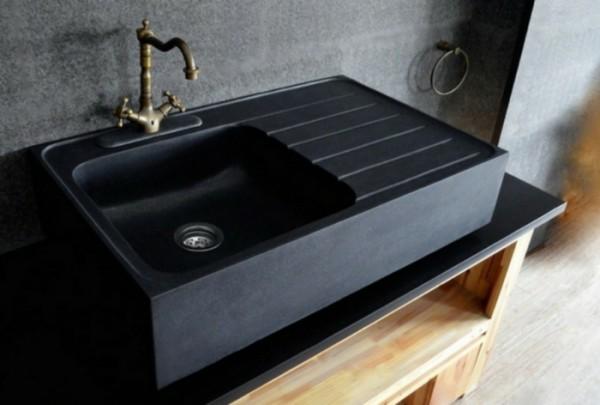 küchenspüle granit passender wasserhahn kombination