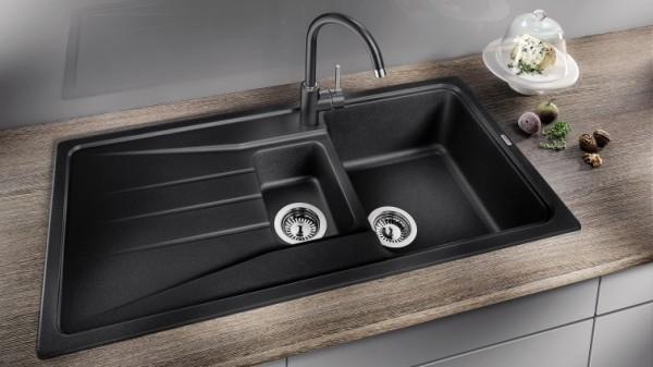 küchenspüle granit schicke farben kombinieren