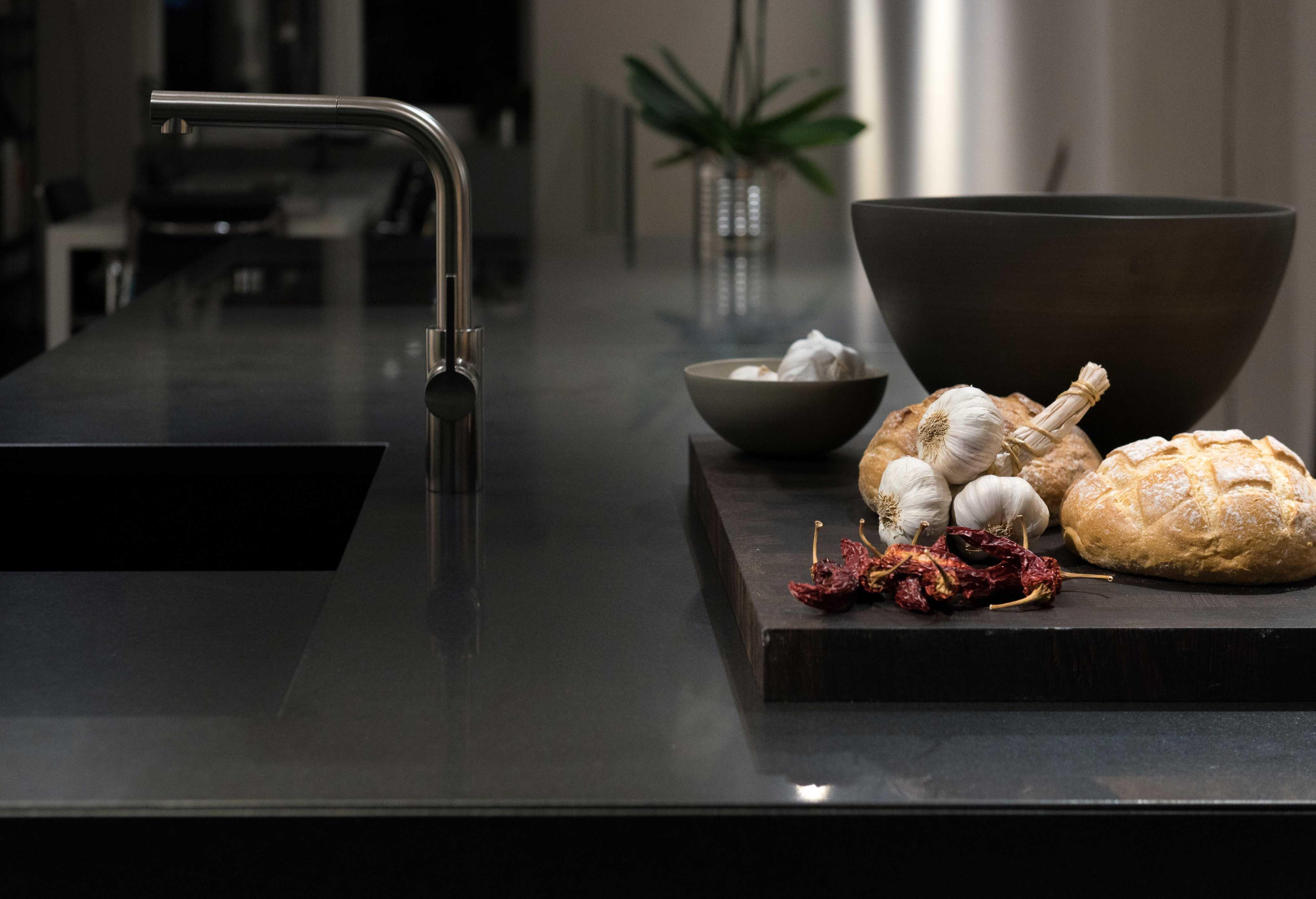 küchenspüle granit super modern schwarz