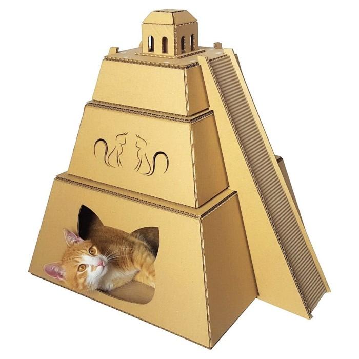 katzenhaus selber bauen moebel aus pappe katzenhaus aus karton exotisch