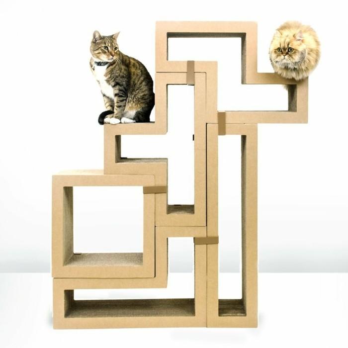 katzenhaus selber bauen moebel aus pappe katzenhaus aus karton moebel