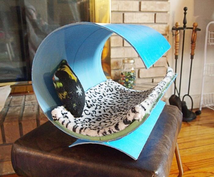 katzenhaus selber bauen moebel aus pappe katzenhaus upcycling ideen modernes katzenhaus