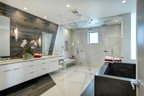 laminat an die wand badezimmer wandgestaltung akzente swetzen