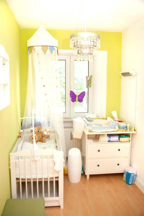 mädchen babyzimmer gelb weiß kombinieren kleines babyzimmer einrichten