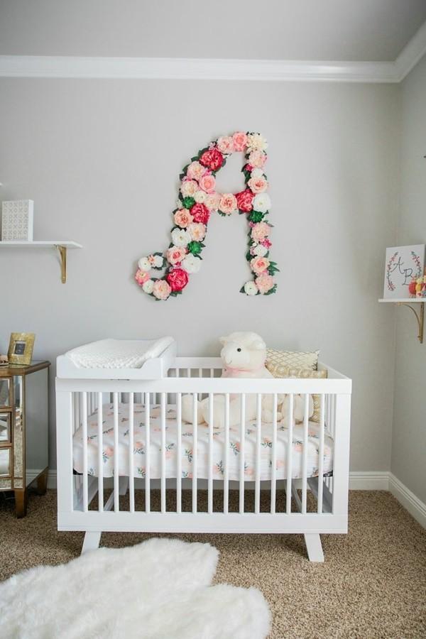 wandfarbe hellgrau mädchen babyzimmer hellgraue wände weiße möbelstücke