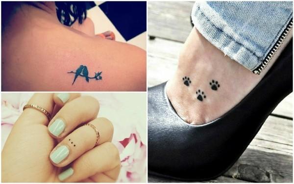 mini tattoos frauen tierspuren vögel tätowierung ideen