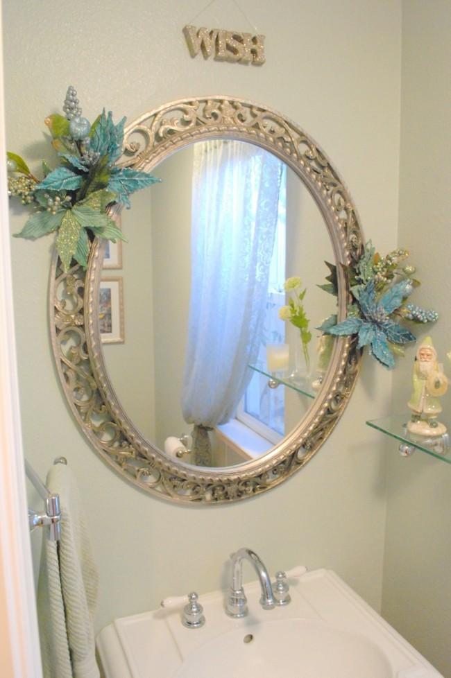 mit klassichen rahmen Badezimmerspiegel