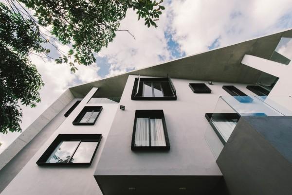 moderne architektur ansicht von unten