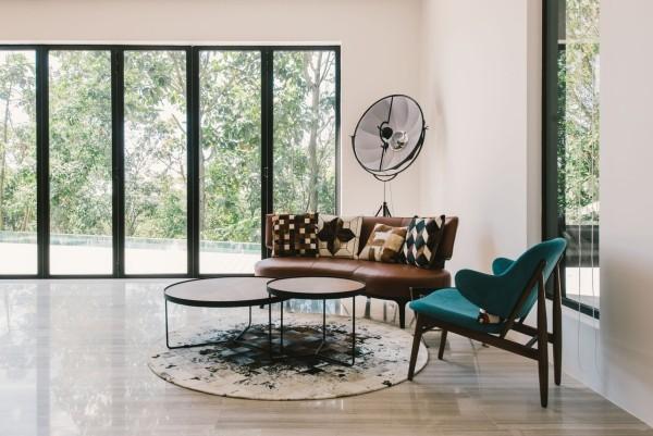 moderne architektur idee für die wohnzimmereinrichtung