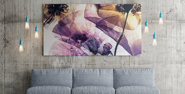 moderne wandbilder frühling dekoideen wohnzimmer