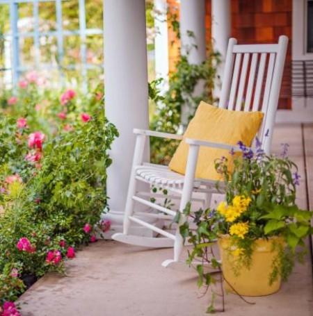 offene Veranda komfortabel sitzen Natur