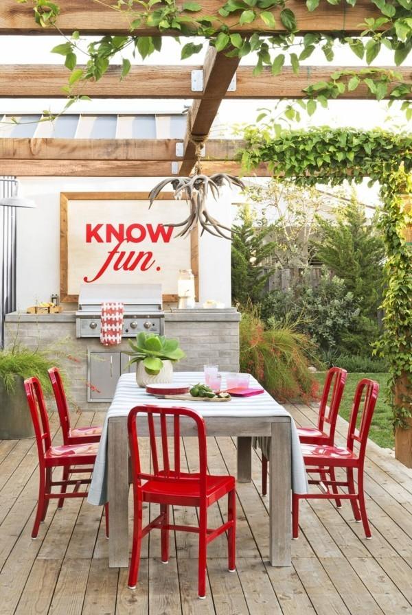 outdoor küche akzent stühle garten lounge