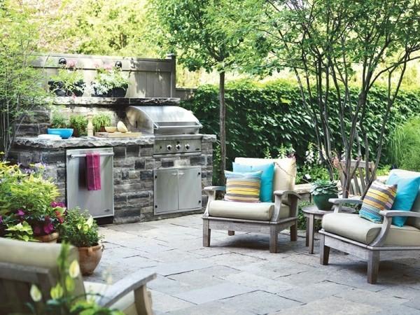 outdoor küche bequeme möbel garten lounge