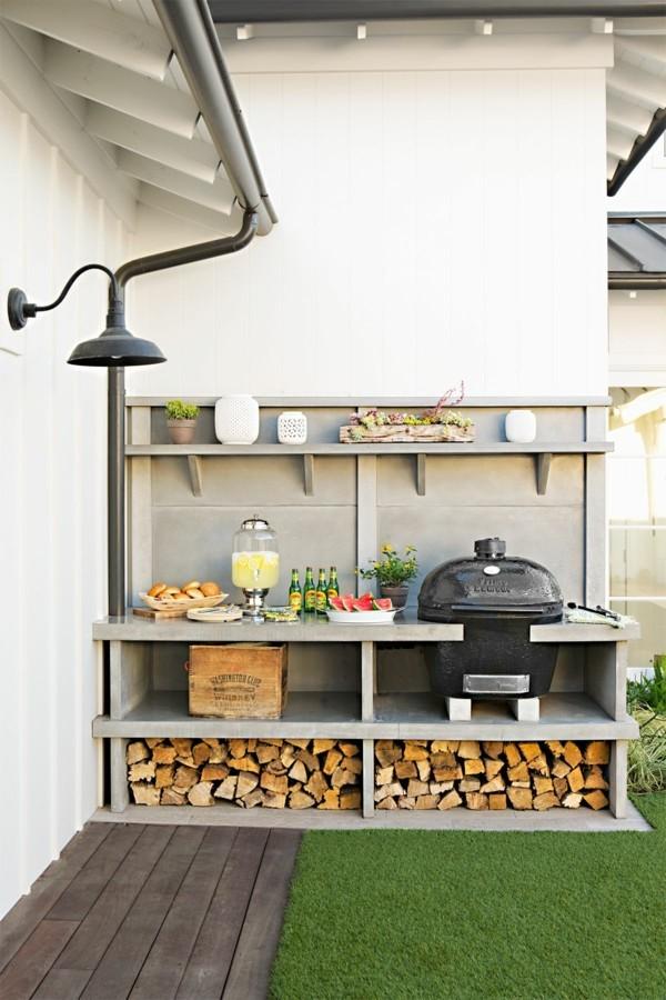 outdoor küche eingebaute verstaumöglichkeiten garten lounge